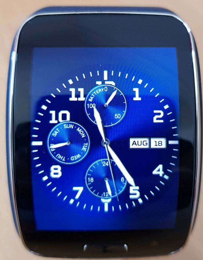 Samsung galaxy gear sin Cramlington, NorthumberlandGumtree - Samsung gear s sm r750 watch boxed like new with black and a blue strap swap for Huawei watch . Txt for quick reply