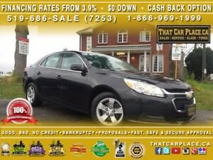 2015 Chevrolet Malibu LT-0.9%Financing or $1400 CASHBACK-$0DOWN-