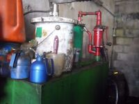 castrol oil tank with hand pump