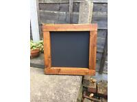 Lovely wooden chalkboard menu square chalkboard