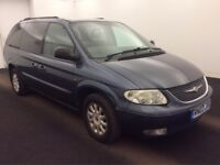 2003 03 Reg Chrysler Grand Voyager MPV 2.5 CRD LX, Diesel, 7 Seater, Manual, 5 Door, Metallic Blue