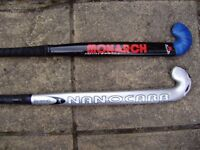 Hockey stick x 2. Browning Nanocarb Plasma and Monarch Preying Mantis Grass Hockey Sticks