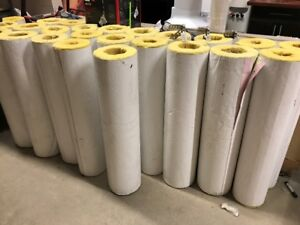 Large supply of pipe insulation