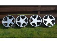 17's AZEV A 4X100 J7.5 and J8.5 offset ET28 and et 20 Staggered BMW E30,VW models.MINI,RENAULT