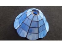Tiffany style glass blue ceiling light shade