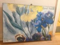 Emil Nolde print on wooden backing, free to collect