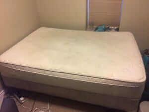 Double mattress, box spring & bed frame