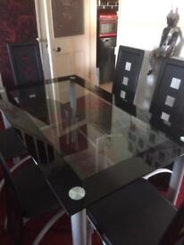 Dining Table And 6 Chairs In Black