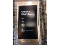 Brand new Samsung galaxy grand prime plus gold. 12 months manufacturers warranty.