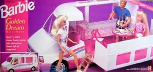 Barbie RV + Little Mermaid dolls + Flower Shop