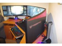 Acer Predator Z35 35 inch Widescreen Curved Monitor 144 Hz, 4 ms, G-Sync v2 (1 available)
