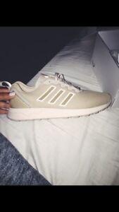 Customized Tan Adidas Shoes, Size 8.5