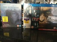 15 blu ray films, Revenant, Planet of the apes, etc great condition,
