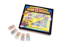 Double 15 Dominoes colour dots