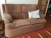 Brown 2 seater sofa - really comfy