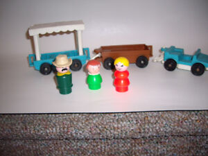 FISHER PRICE TRAM TROLLYS 1984