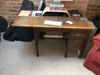 2 Vintage Oak Desks: one large, one small PICK UP THIS WEEK ONLY