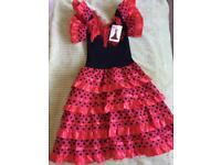 Spanish Style Dressing Up Costume Age 4