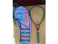 TENNIS RACKET, WILSON, SLADGE HAMMER, SWING 2.8 STRETCH WITH CASE