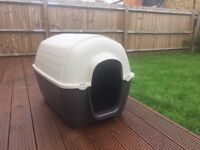 Plastic Dog Kennel - great condition - for indoor/outdoor use