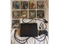 PS3 (PlayStation 3 Console) 250gb Super Slim Model - 9 games