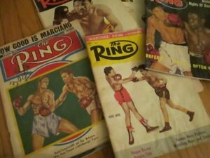 vintage boxing magazine The Ring