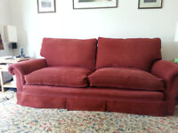 Large 3 seater and 2 seater sofa with footstool. Must go.