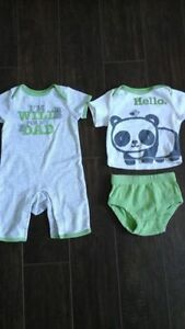 Two Brand New 0-3 Month Size Outfits - $12 for both