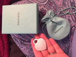 Tiffany jumbo heart tag and bead chain