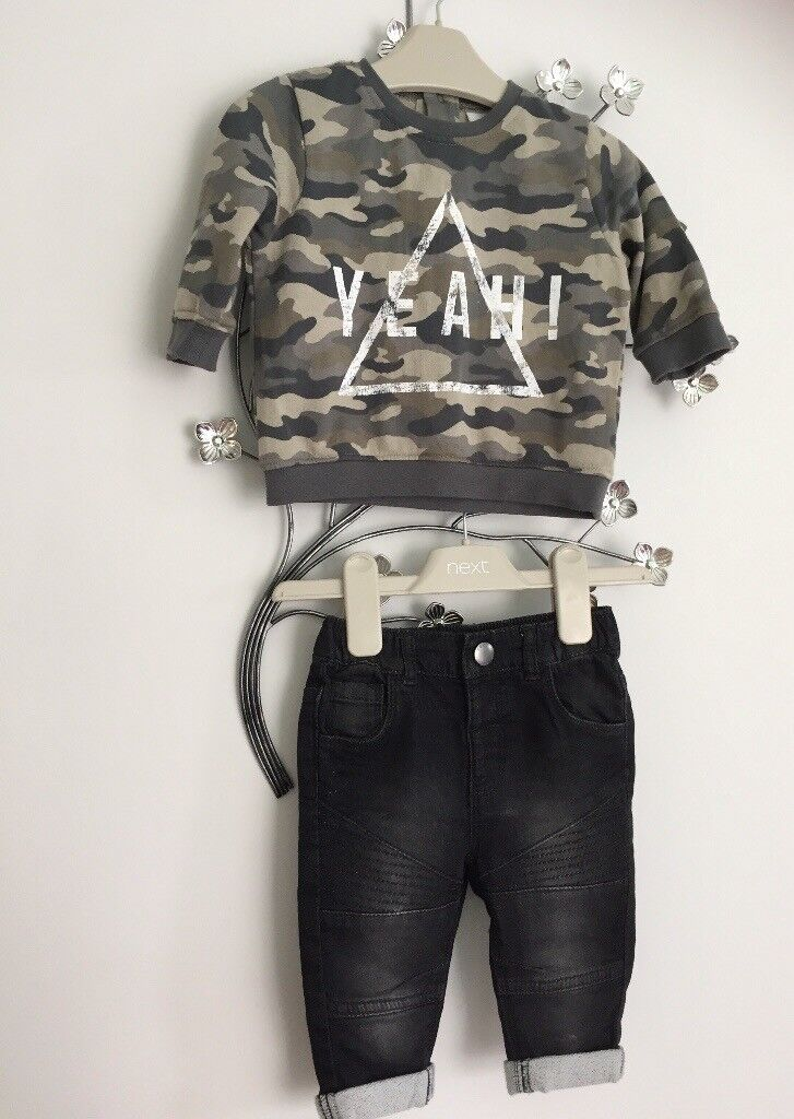 3-6 month boy next outfit like new
