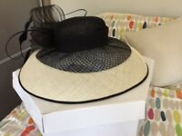 Wedding Hat (Jaques Vert) large cream & black