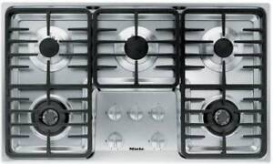 "New Miele 36"" Stainless Steel 5 Sealed Burner Cooktop KM3475GSS,"