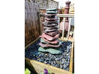 Slate Water Fountain, complete with water reservoir and pump, £125.00