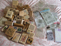 Card Making Job Lot. Rubber & Silicone Stamps, Ink Stamps, Embossing Stencils, Card Blanks & More!