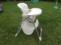 High chair (mothercare)