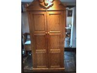 Beautiful vintage pine double wardrobe