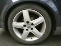 "Original Audi A4 17"" alloy wheels for swap"