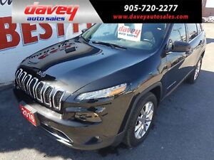 2016 Jeep Cherokee Limited 4X4, NAVIGATION, LEATHER INTERIOR