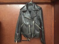 All saints woman leather jacket