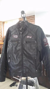 Manteau de moto médium en simili cuir /motorcycle Jacket leather