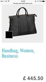 Mercedes-Benz Black Leather Wonens Business Handbag