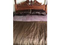 King size chocolate bedding set