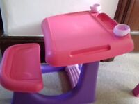 Chad Valley Pink Children's desk and seat