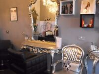 fabulous console table and mirror