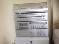 Sony stacking stereo system.