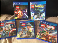 5 x PS4 Lego Games