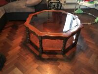Gorgeous hexagonal coffee table