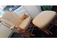 Gliding Dutailier Nursing Chair with Stool