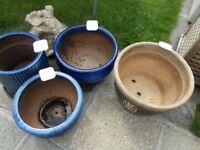 4 large flower pots