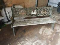 CHILDREN'S CAST IRON GARDEN BENCH